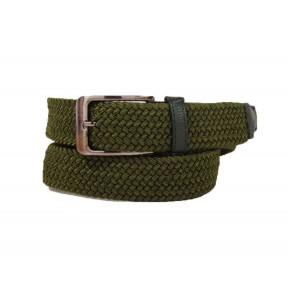 Ремень резинка плетеный 35 мм 35118-0007 темн. зеленый текстиль PRC