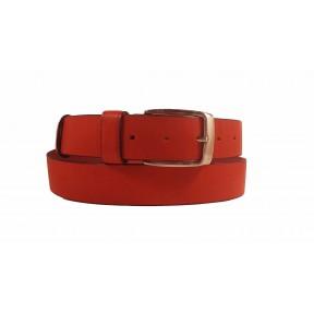 Ремень/пояс 35 мм 35 мм красный натуральная кожа New Style Россия