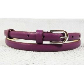 Ремень/пояс 15 мм дутик фиолетовый иск. кожа Китай 110см(р)