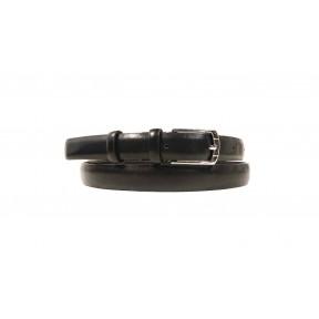 Ремень/пояс 20 мм 20 мм матовый дутый черный комб. кожа Benvi