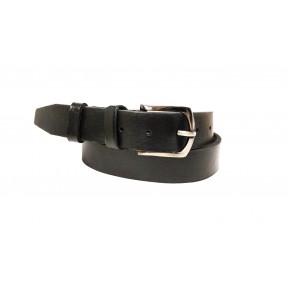 Ремень/пояс 35 мм 35 мм мягкий темн. пряжка черный натуральная кожа New Style Россия