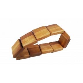 Браслет ширина 20 мм деревянный фиолетовый ольха Россия 55 мм(р)