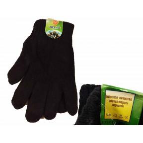 Перчатки мужские черный шерсть/акрил Китай