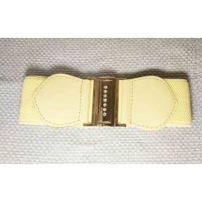 Ремень/пояс резинка 50 мм светло-желтый металл Китай