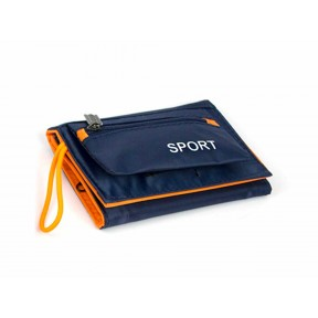 Портмоне спортивное SPORT или удобный кошелек для детей синий текстиль no name