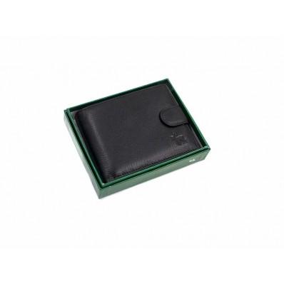 Портмоне монетица. карты, пропуск, удостоверение 74х210 мм 12,5х10,5х2,5см черный натуральная кожа Marco Coverna