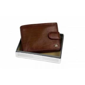 Портмоне монетица. карты, удостоверение  22х7,5 см 13х10х2,5 см рыжий натуральная кожа Cosset PRC
