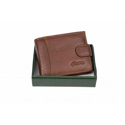 Портмоне отделения для монет, карт, купюр коричневый Натуральная кожа Fani