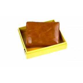 Кошелек отделения для монет, карт, купюр 10х11,5х2,5 см рыжий Натуральная кожа Ivorx