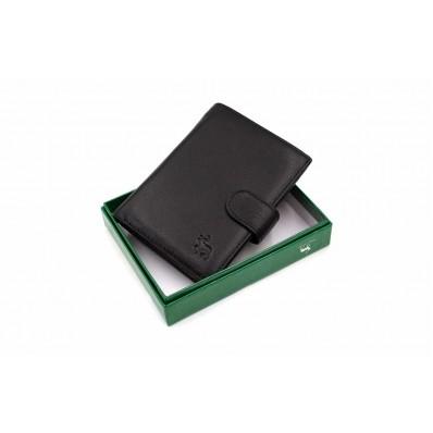 Бумажник/автодок. отделения на права, монетица. карты, купюр 14х10х2,5 см черный натуральная кожа Marco Coverna
