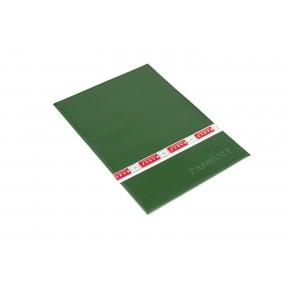 Обложка на паспорт с визитницей на 2 карты зеленый Натуральная кожа Barez Россия