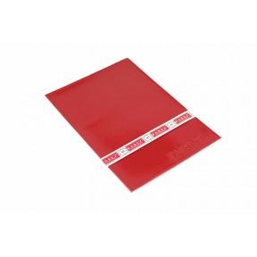 Обложка на паспорт с визитницей на 2 карты красный Натуральная кожа Barez Россия