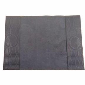 Обложка на паспорт с кожаными полями с рисунком, ручная работа синий Натуральная кожа Россия