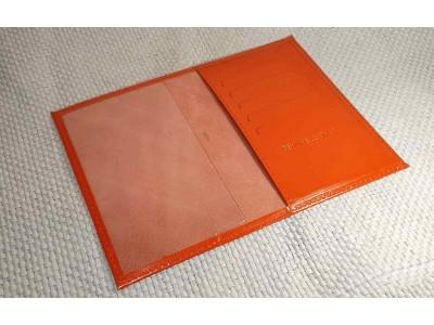 Обложка на паспорт 5 отделений для карт из гладкой кожи красный Натуральная кожа Barez Россия