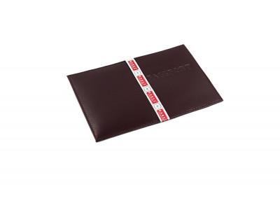Обложка на паспорт 5 отделений для карт из гладкой кожи бордовый Натуральная кожа Barez Россия