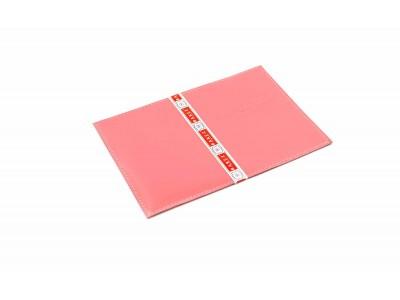 Обложка на паспорт 5 отделений для карт из гладкой кожи розовый Натуральная кожа Barez Россия