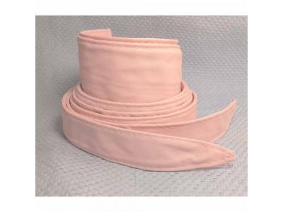 Ремень/пояс кушак ширина 8 см концы 3 см, розовый экокожа Dm.R. Россия 220 см(р)