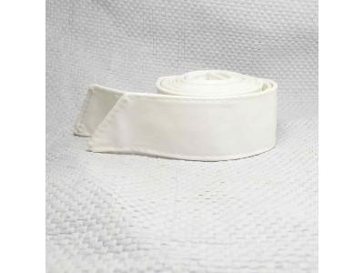 Ремень/пояс кушак прямой одинаковой ширины 4 см белый экокожа Dm.R. Россия 220 см(р)