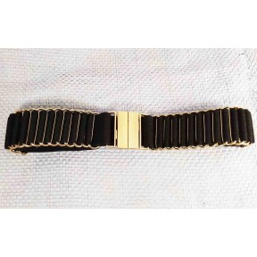 Ремень/пояс резинка 35 мм для платья черный текстиль Dm.R. Россия 75см(р)