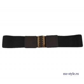 Ремень жен. резинка 50 мм золот пр. цвет серый натуральная кожа Китай
