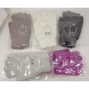 Перчатки текстильные Виктория Сова шерсть/ангора/акрил Вьетнам