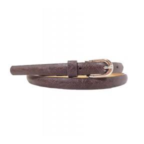 Ремень/пояс 15 мм дутый мрамор коричневый иск. кожа No name PRC