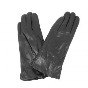 Перчатки кожаные гладкие черн. натуральная кожа Китай