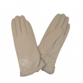 Перчатки кожаные гладкие бежевый натуральная кожа Китай