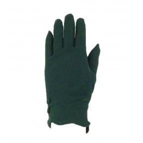 Перчатки текстильные две пуговки зелёный шерсть/бамбук Тайвань