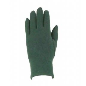 Перчатки текстильные гладкие зелёный шерсть/акрил Тайвань
