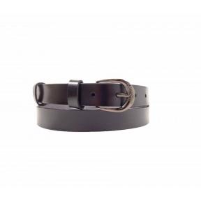 Рем. Casual 25 мм черн пр черн. натуральная кожа с покрытием PRC