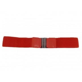 Ремень/пояс резинка 40 мм красный иск. кожа PRC