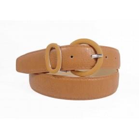 Ремень/пояс 30 мм 32 мм в цвет ремня коричневый иск. кожа PRC