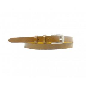 Ремень/пояс 15 мм глянец коричневый натуральная кожа PRC
