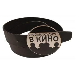 Ремень/пояс 40 мм 40 мм кино черный иск. кожа Китай