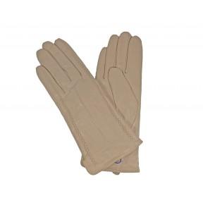 Перчатки кожаные рельефное плетение бежевый натуральная кожа Pí shǒutào Китай
