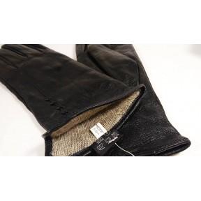 Перчатки кожаные сквозное плетение 6 черный натуральная кожа Pí shǒutào Китай